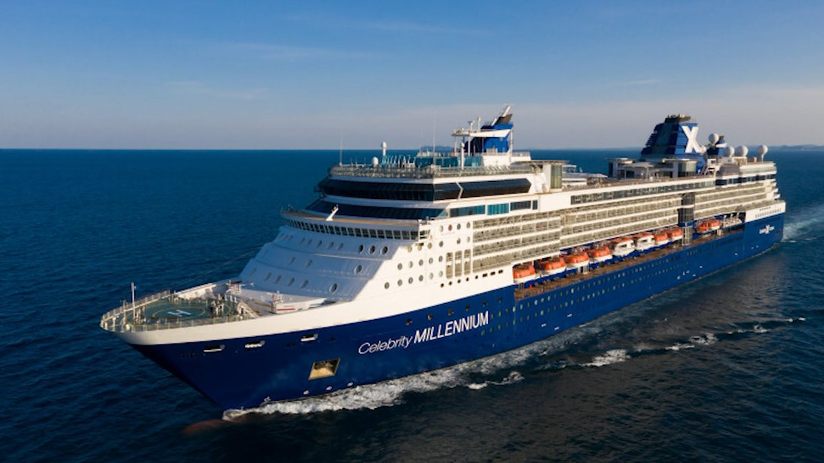 Two people returning from a trip on a cruise ship have tested positive for COVID-19.