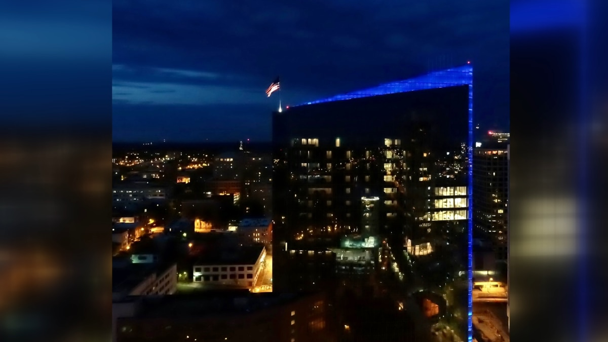 Dominion Energy takes part in the #LightItBlue challenge!