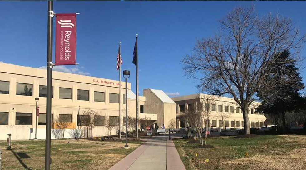 A woman with a box cutter attacked a teacher at Reynolds Community College's Parham Road Campus...