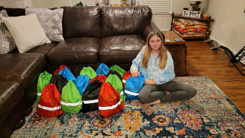 13-year-old giving back to the homeless