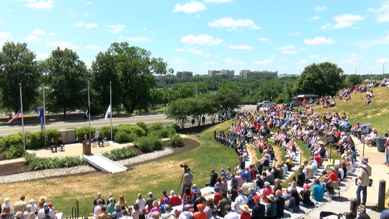 Hundreds of people attended a Memorial Day ceremony at Virginia War Memorial.