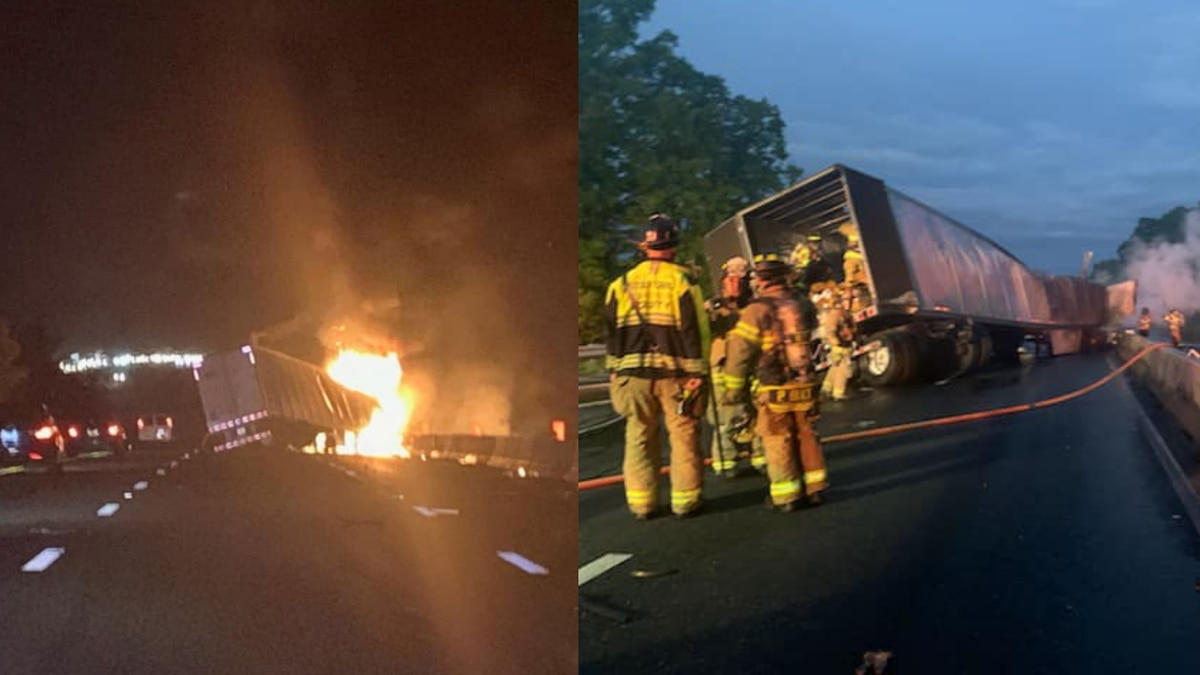 Southbound lanes of Interstate 95 were closed in Stafford County Monday morning after a...