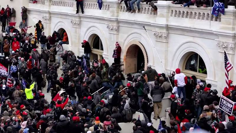 The insurrection at the United States Capitol on Jan. 6.