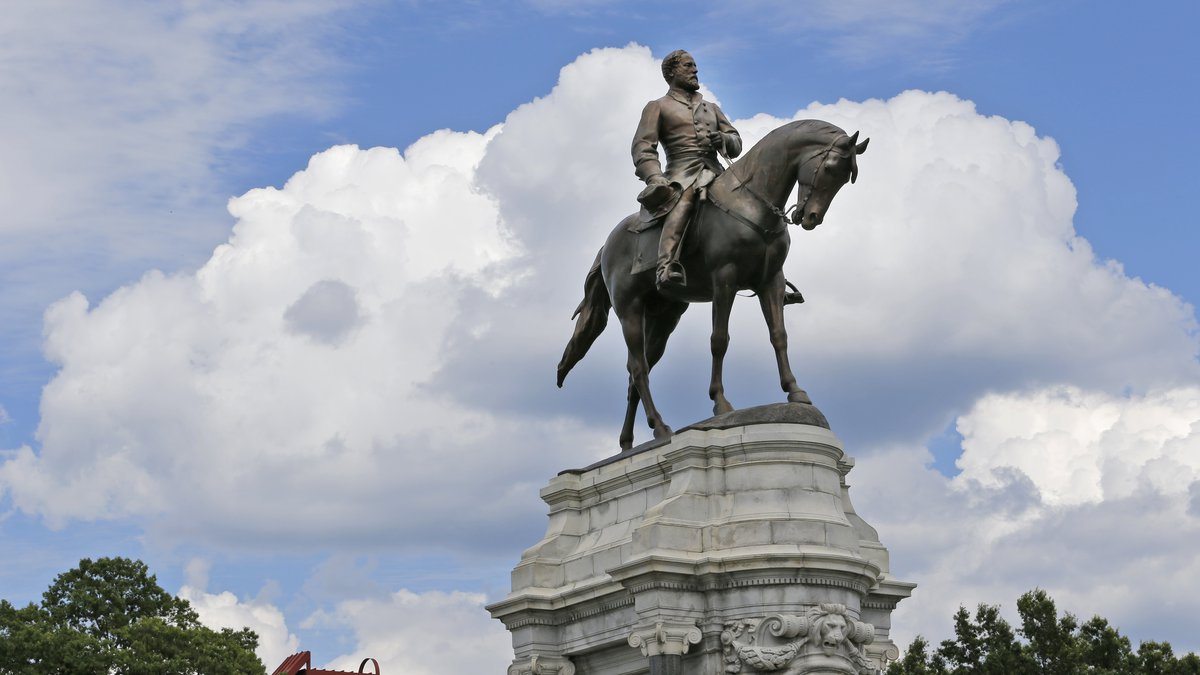 FILE - This Tuesday June 27, 2017 file photo shows the statue of Confederate General Robert E....
