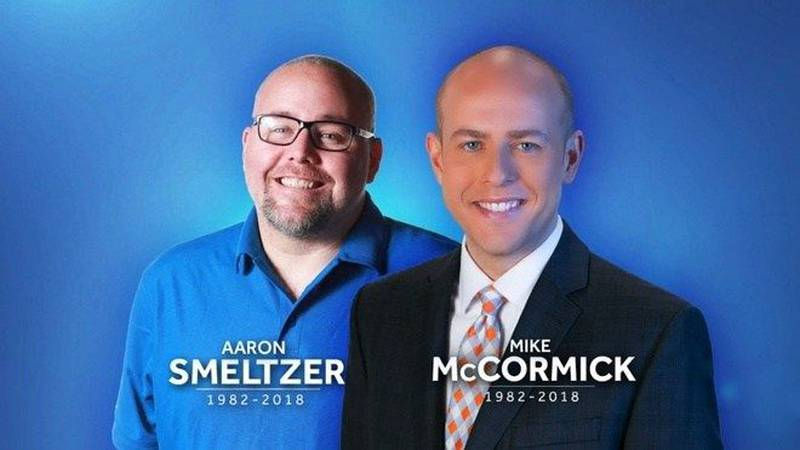 Mike McCormick and Aaron Smeltzer died while a tree fell on their SUV. (Source: WYFF)