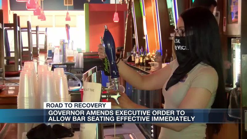 Governor Northam amends executive order to allow bar seating