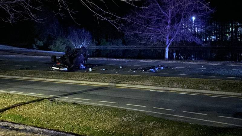 Woman killed in car crash in Chesterfield County.