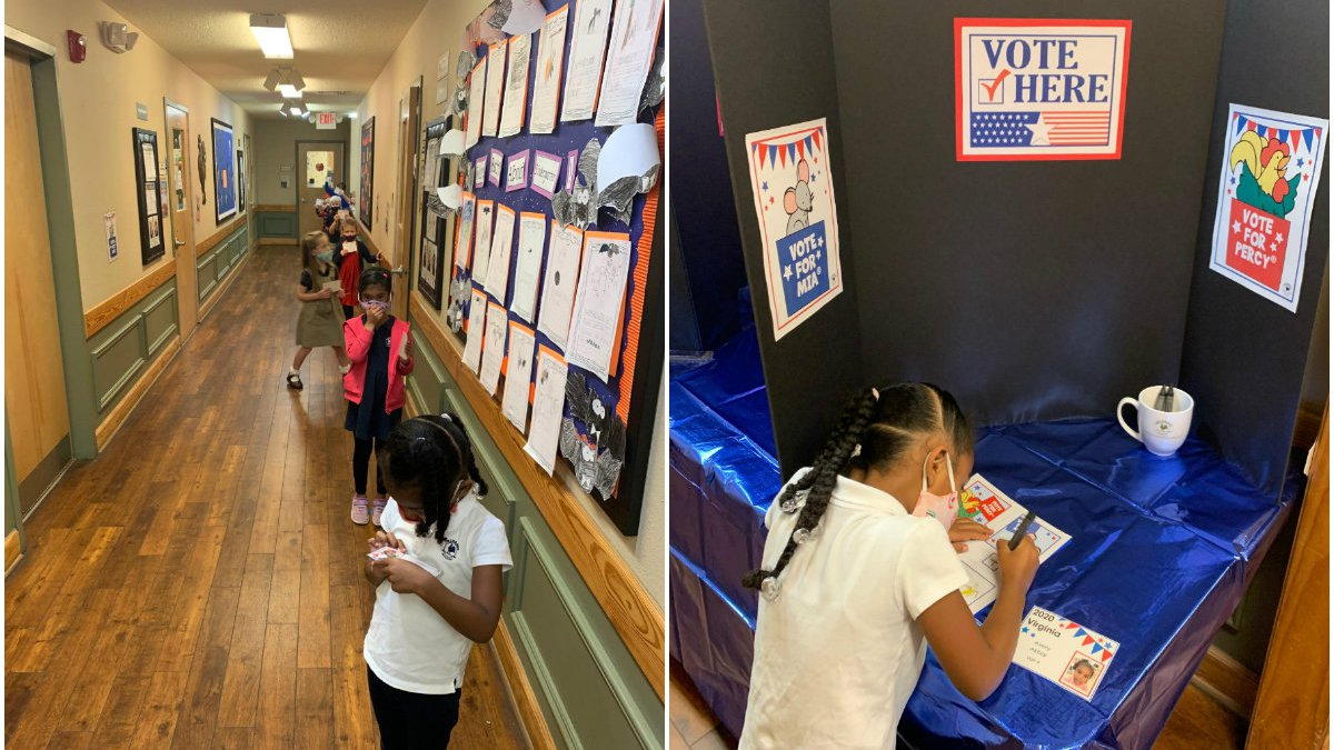 Students in Ashland got first-hand experience of what it is like to exercise their right to vote.