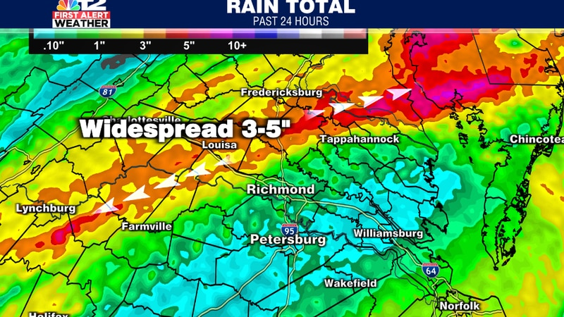 More bands of heavy rain are expect through this morning and afternoon, consistently increasing...