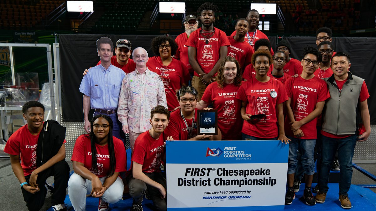 Thomas Jefferson H.S., VikingBots in FIRST Chesapeake robotics competition