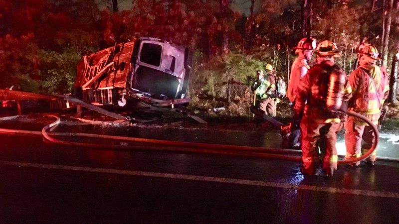 The driver ran off into the woods after the crash, state police said.