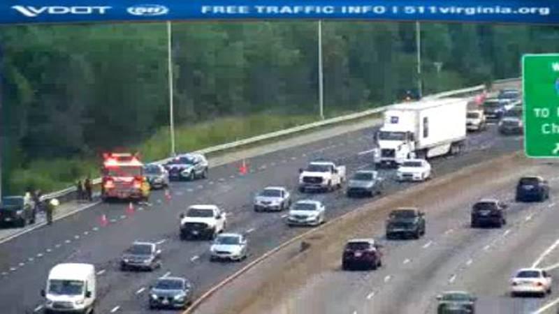Crash on I-95 South  near Bryan Park interchange slows morning commute.