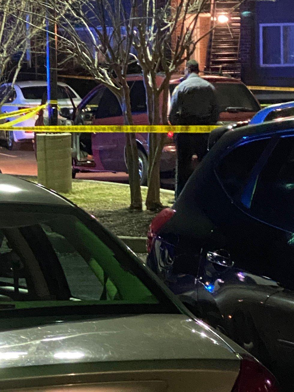 Woman shot at Henrico apartment complex.