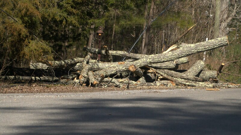 Most, if not all, of Blackstone was left without power for several days due to down powerlines...
