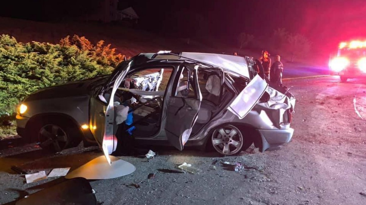 A total of eight patients were in the car at the time of the crash.