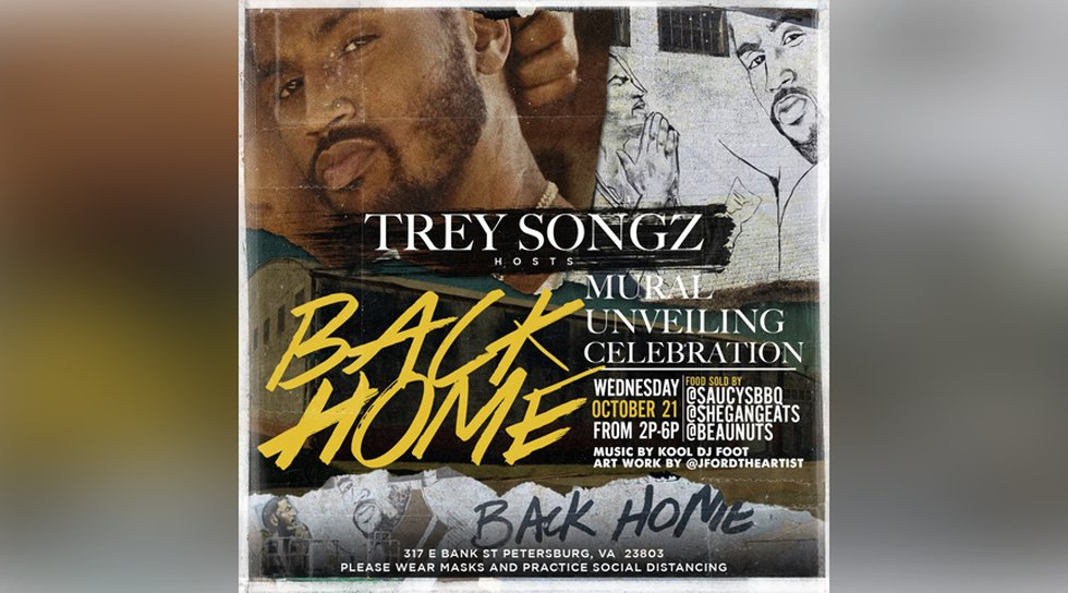 Recording artist and Petersburg native Trey Songz will host a mural unveiling in the city on...