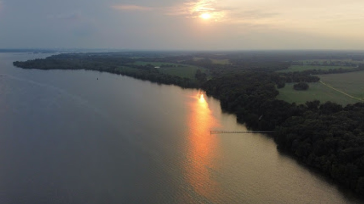 The 105 acres of newly acquired Chickahominy Tribal lands on the James River in Charles City...