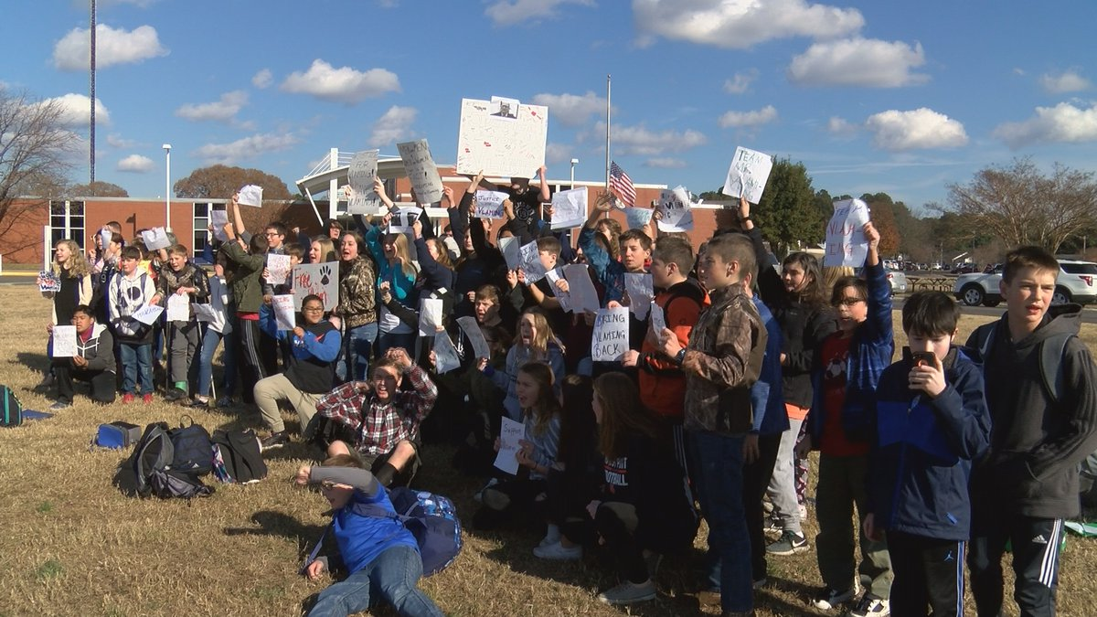 Students at West Point High/Middle Schools walkout in protest of the school board firing Peter...