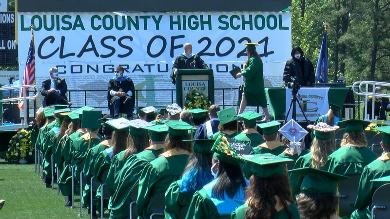 Hundreds of Louisa High School seniors took the stage to receive their diplomas during their...