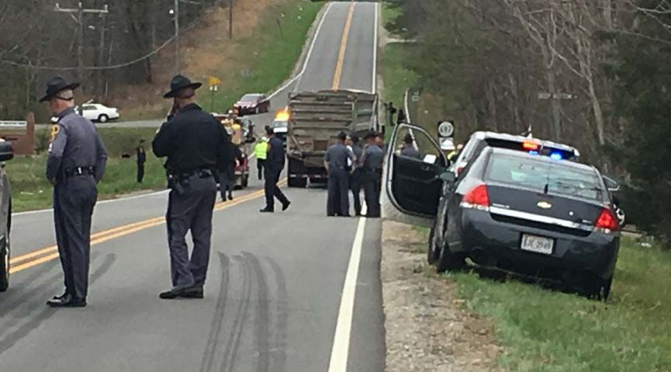 Two children died at the scene on Route 15 in Buckingham on Thursday morning. (Source: NBC12)