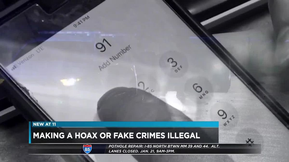 Making hoax illegal