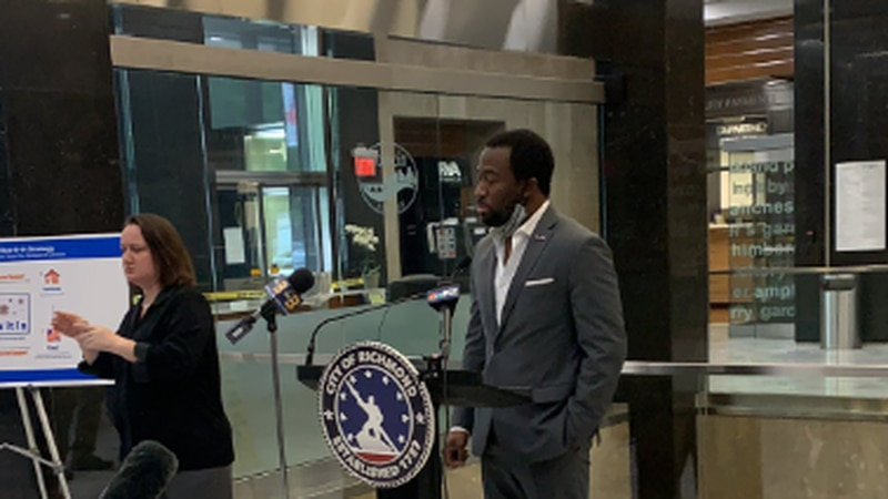 Mayor Levar Stoney gives press conference on the city's response to COVID-19.