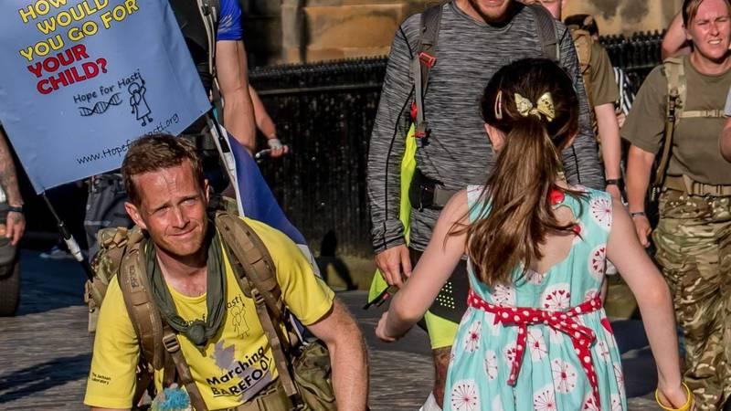 Dad walks 1,200 miles for daughter's rare disease