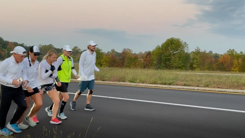 Six runners run 350 miles across Virginia for a cause.