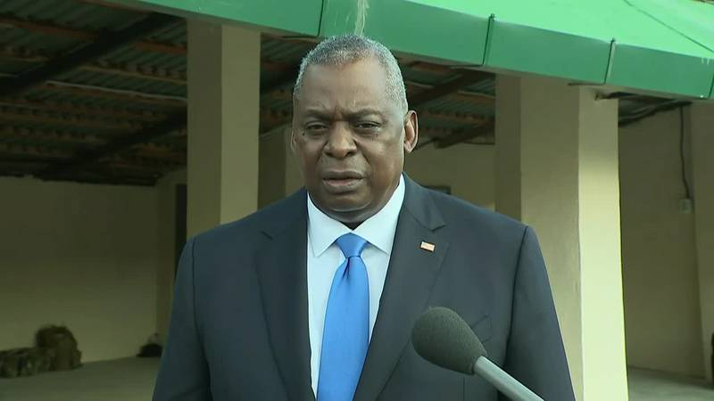 Secretary of Defense Lloyd Austin comments on the death of former Secretary of State Colin...