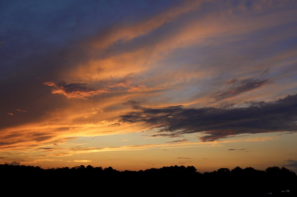 A little bit more cloud cover made for a stunning orange and blue sunset