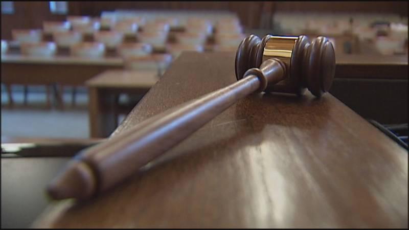 stock footage of judge's gavel
