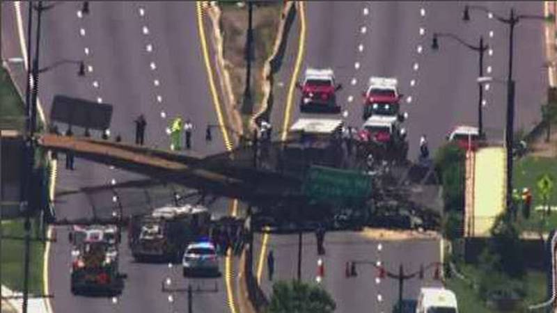 At least three people were injured when a pedestrian bridge collapsed in Washington, D.C....