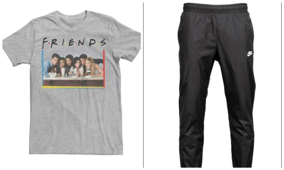 Stock images of the shirt and pants.