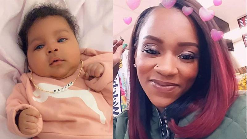 Sharnez Hill and her little baby 3 month old Neziah were unintended targets of gunfire in April...