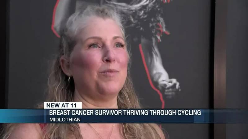 Breast cancer survivor thriving through cycling