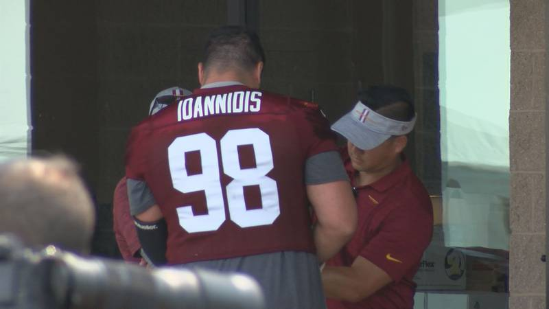 Washington defensive tackle Matt Ioannidis was placed on the reserve/ COVID-19 list on July 29,...