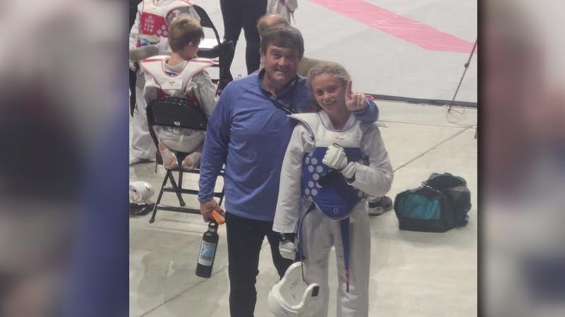Olivia Adwell wins taekwondo national title