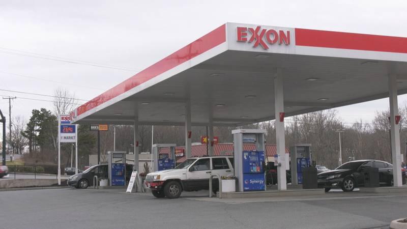 An Exxon station in Charlottesville, Virginia.