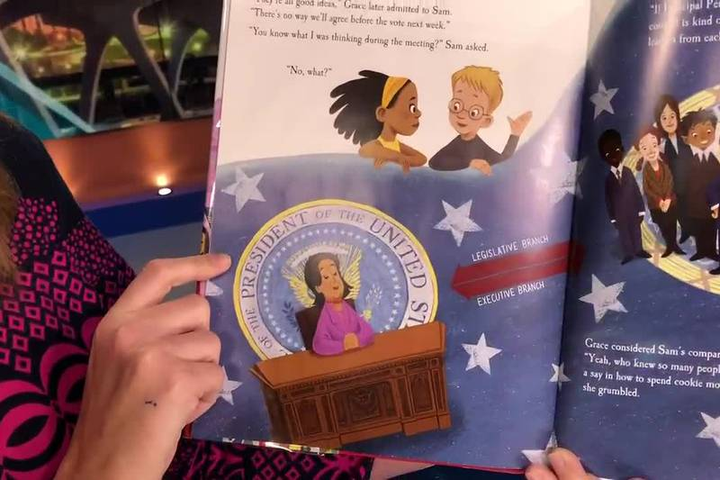 """NBC12 reads 'Grace Goes to Washington"""" for Read Across America"""