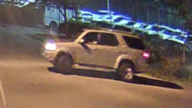 Police say the vehicle involved appears to be a gold-colored, early-2000s model of a Toyota...