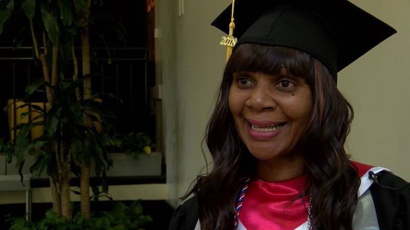 Carrie Dunson earned an associate's degree in medical assisting. (Source: NBC12)