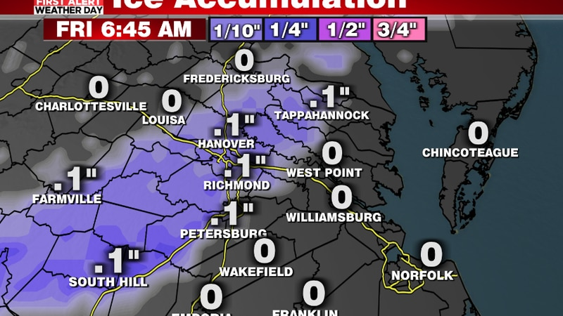 Additional light ice accumulation into Friday morning
