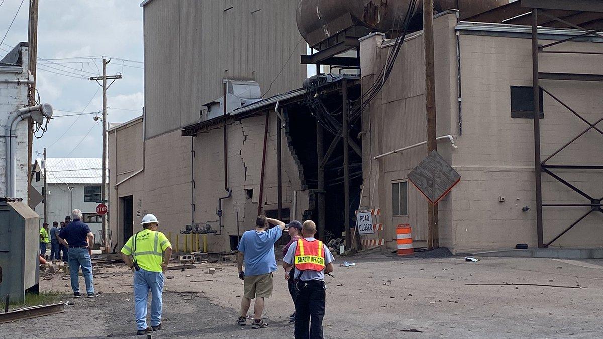 On the scene at the Valley Milk explosion in Strasburg, VA.