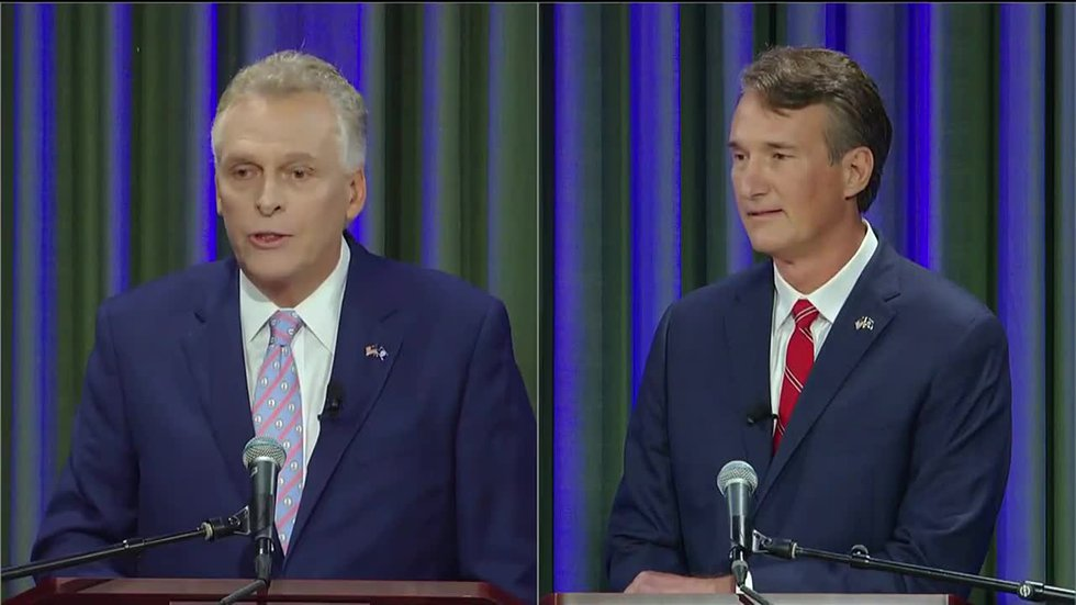 McAuliffe, Youngkin meet for first debate on eve of beginning of early voting