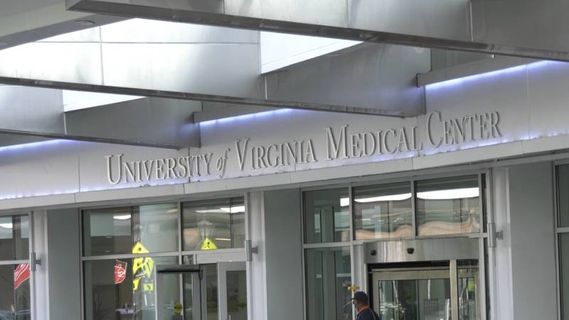 Entrance to the University of Virginia Medical Center