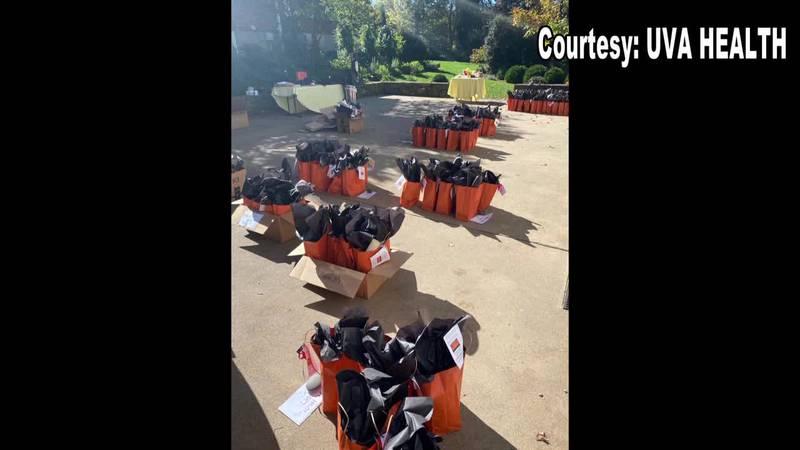 UVA Children's Hospital packs dozens of bags to help sick children celebrate Halloween.