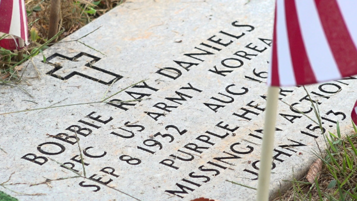 Bobbie Ray Daniels' resting place in Bedford.
