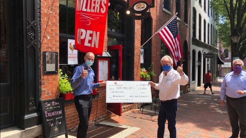 Lars ran the entire Capital Trail to raise money for Shockoe Slip restaurants.