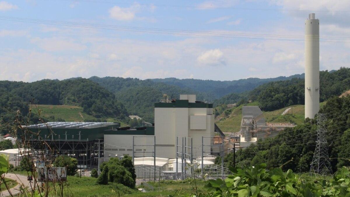 Dominion Energy's Virginia City Hybrid Energy Center in Wise County, Va., 2019.