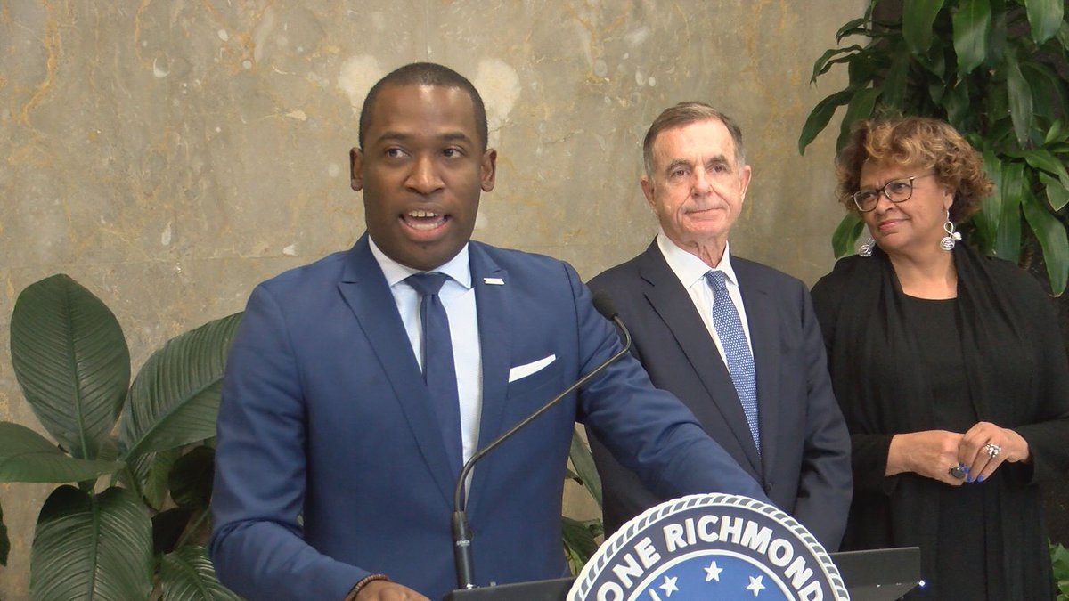 Mayor Levar Stoney joined city leaders and executives from Co-Star for Monday morning's...